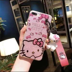 iPhone XS Max Hello Kitty Case with strap & stand